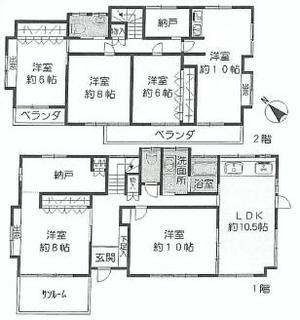 大倉山7丁目中古6480間取り.JPG